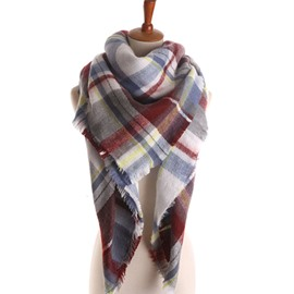 Ericdress Imitation Cashmere Print Rectangle Plaid Scarves