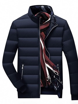 Ericdress Stand Collar Standard Casual Men's Down Jacket