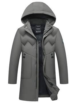 Ericdress Hooded Zipper Plain Casual Men's Down Jacket