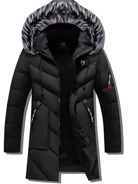 Ericdress Mid-Length Casual Men's Down Jacket