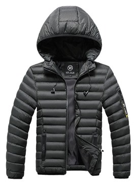 Ericdress Hooded Standard Zipper Casual Men's Down Jacket