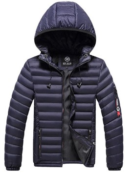 Ericdress Hooded Zipper Standard Men's Casual Down Jacket