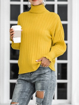 Ericdress Thin Long Sleeve Turtleneck Women's Sweater