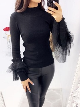 Ericdress Patchwork Regular Long Sleeve Women's Sweater