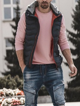 Ericdress Thick Color Block Zipper Casual Men's Waistcoat