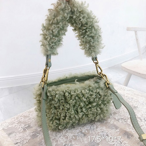 Ericdress Thread Faux Fur Plain Rectangle Tote Bags