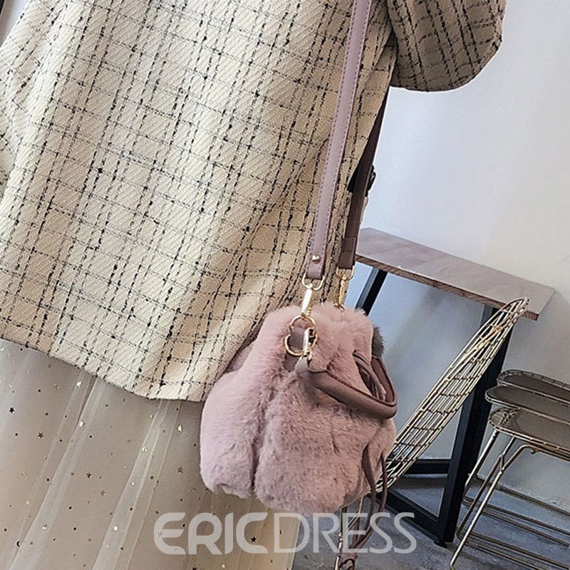 Ericdress Plain Barrel-Shaped Tote Bags