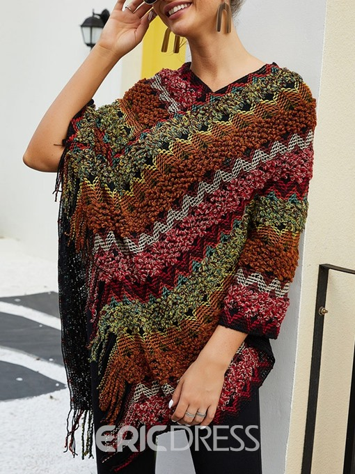 Ericdress Polyester Color Block Ethnic Women's Cape