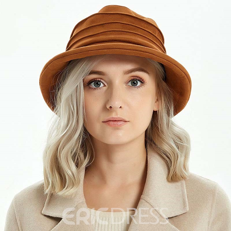 Ericdress Casual Suede Plain Hats
