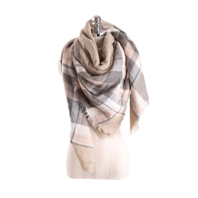 Ericdress Imitation Cashmere Tassel Plaid Scarves