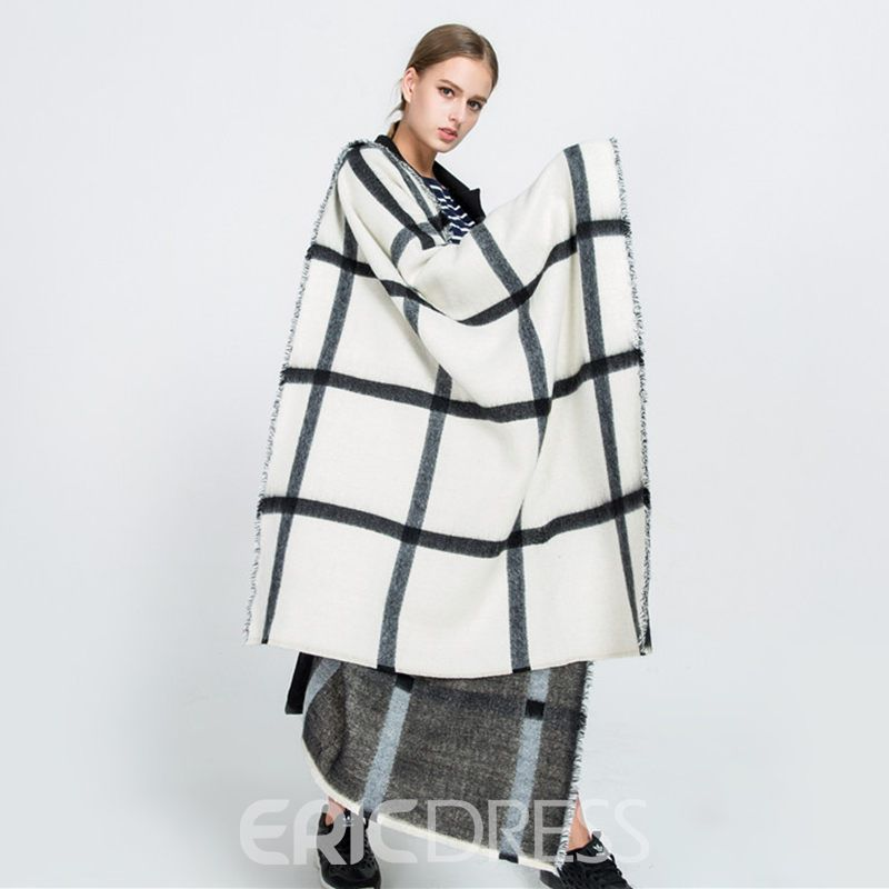 Ericdress Imitation Cashmere Print Plaid Scarves