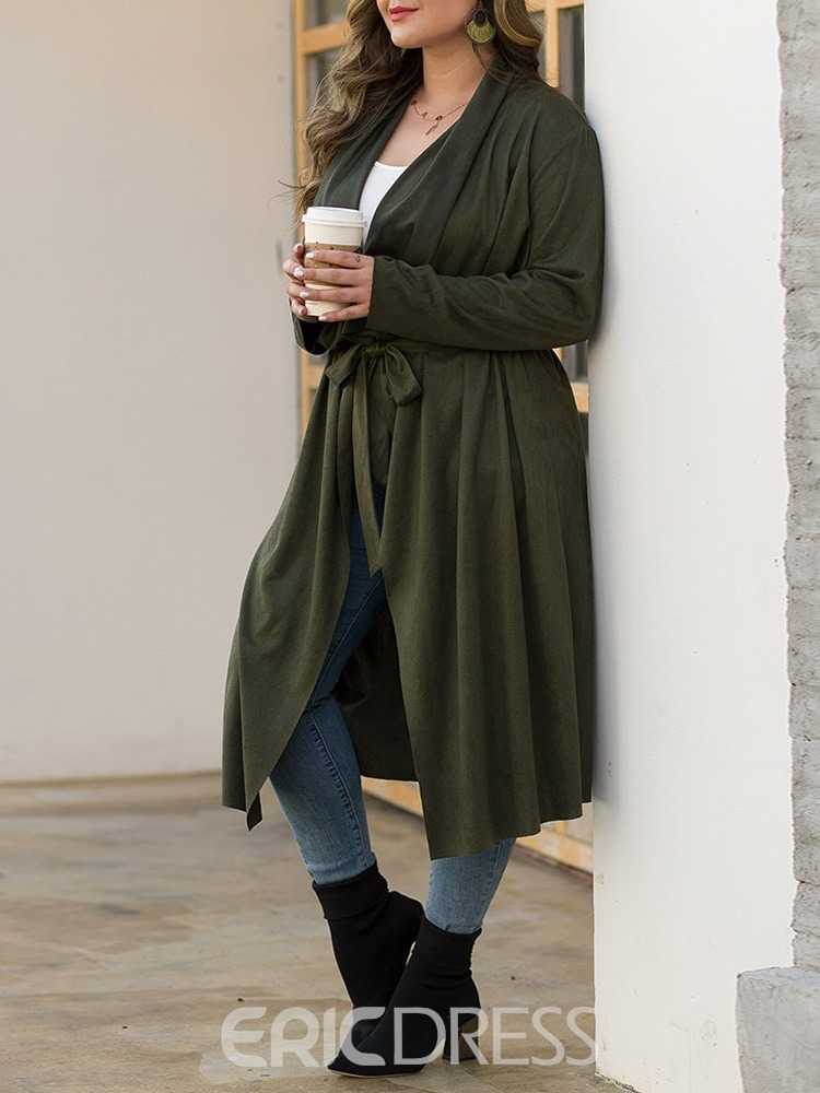 Ericdress Long Loose Women's Trench Coat