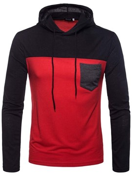 Ericdress Pocket Color Block Pullover Casual Men's Hoodies