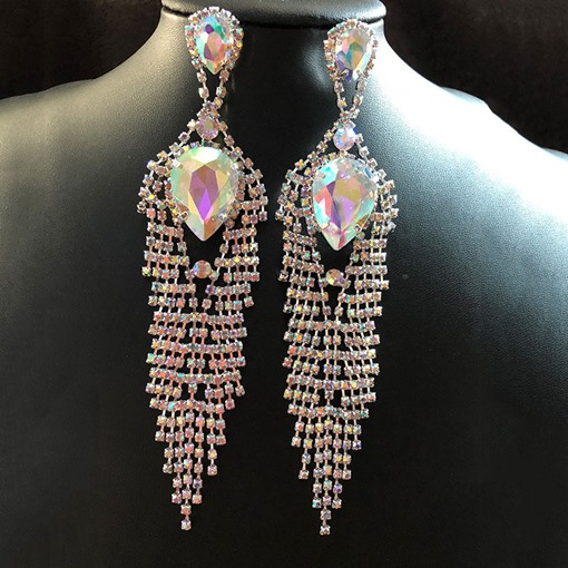 Ericdress Rhinestone Prom Drop Earrings