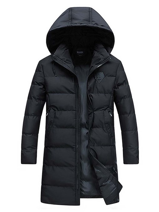 Ericdress Mid-Length Plain Hooded European Men's Down Jacket