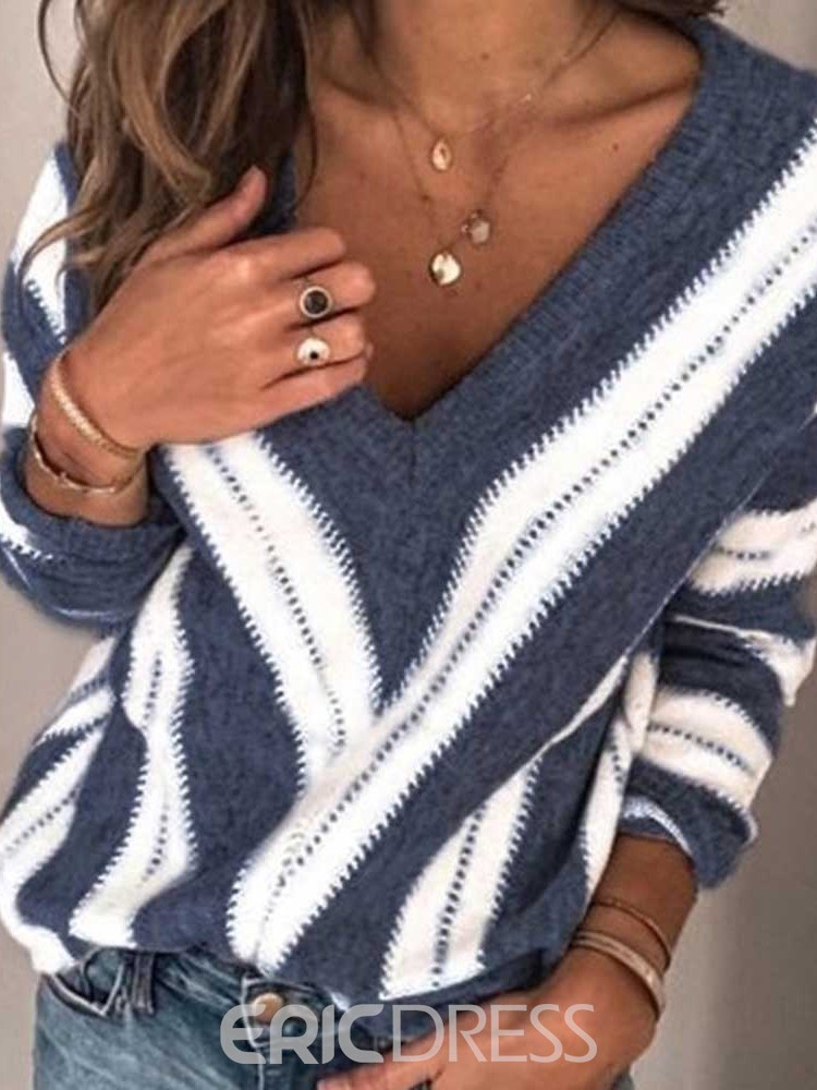 Ericdress Thin Regular V-Neck Nine Points Women's Sweater