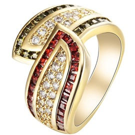 Ericdress Color Block Wedding Rings
