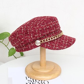 Ericdress Chain Wool Blends Plaid Fall Hats
