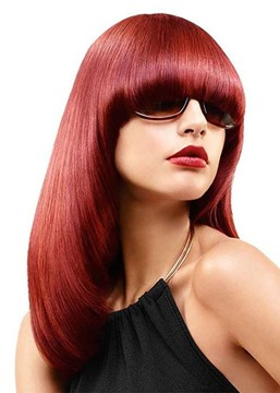 Silk Soft Natural Straight Bob Hairstyles Women's Medium Bob Synthetic Hair Wigs Capless Wigs With Bnages 18Inch
