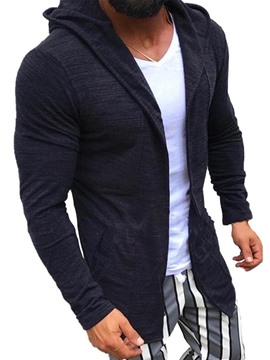 Ericdress Cardigan Zipper Straight Men's Hoodies
