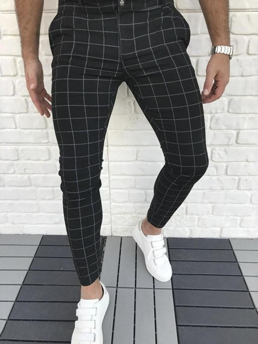 Ericdress Pencil Pants Color Block European Zipper Men's Casual Pants