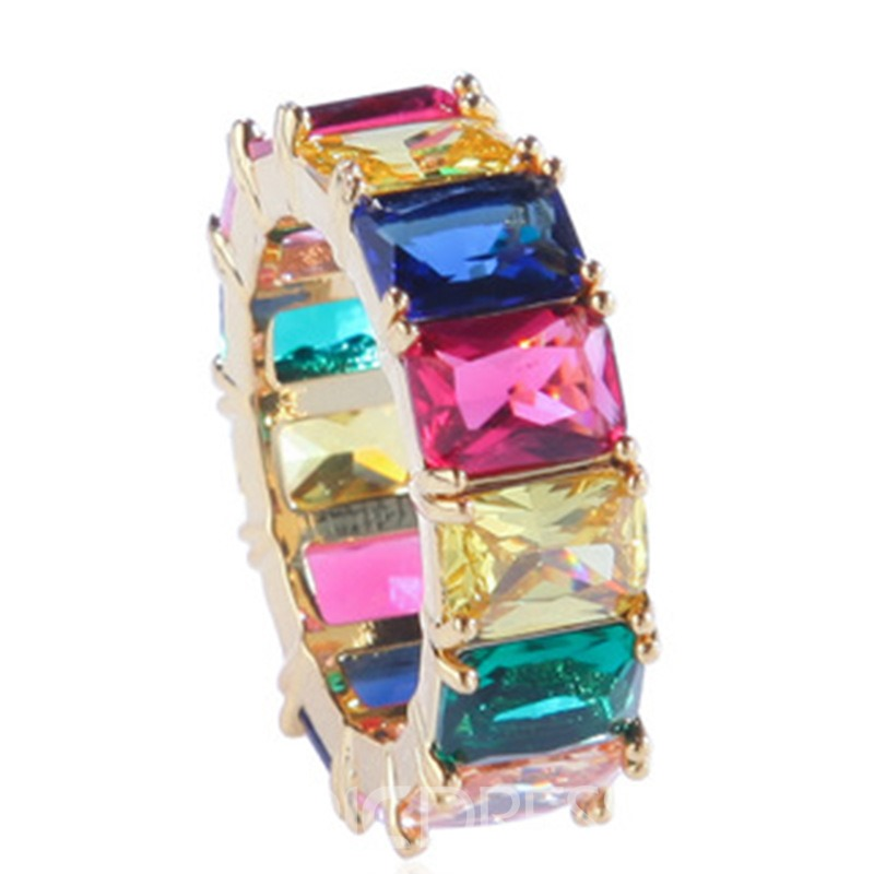 Ericdress Color Block Holiday Rings