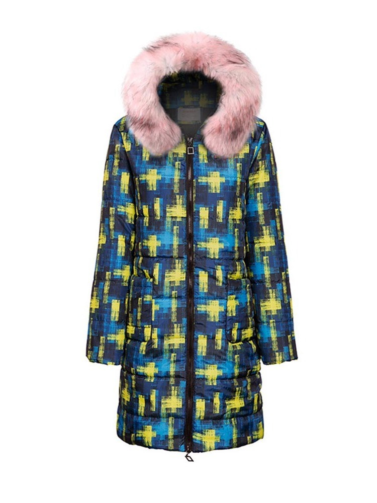 Ericdress Patchwork Loose Long Cotton Padded Women's Jacket