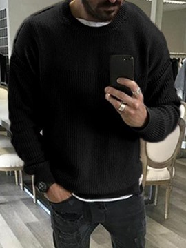 Ericdress Standard Round Neck Plain Loose Men's Casual Sweater