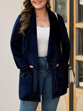 Ericdress Mid-Length Pocket Long Sleeve Loose Women's Trench Coat