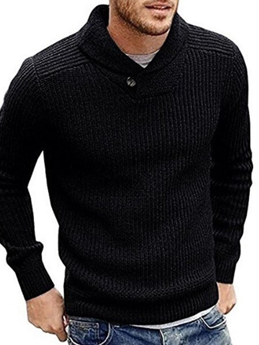 Ericdress Standard Plain Slim Casual Men's Sweater