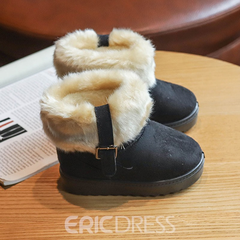 Ericdress Faux Fur Patchwork Baby Snow Boots