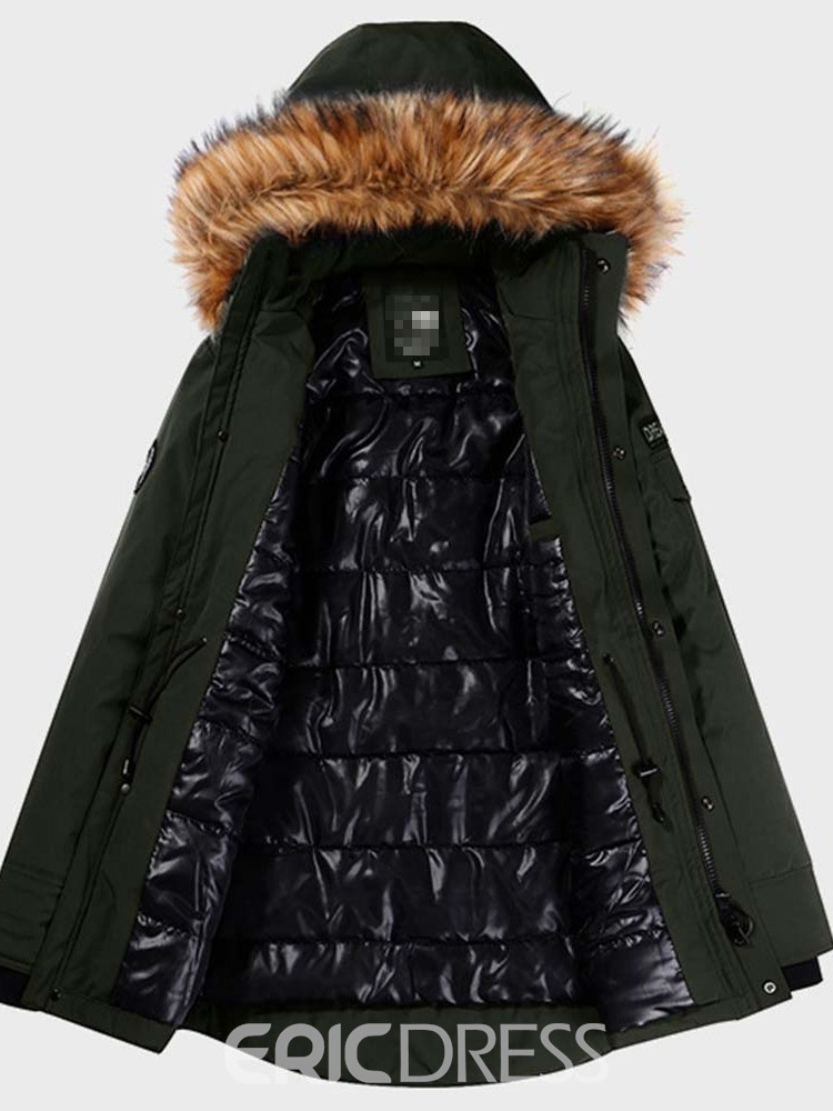 Ericdress Hooded Mid-Length Casual Men's Down Jacket