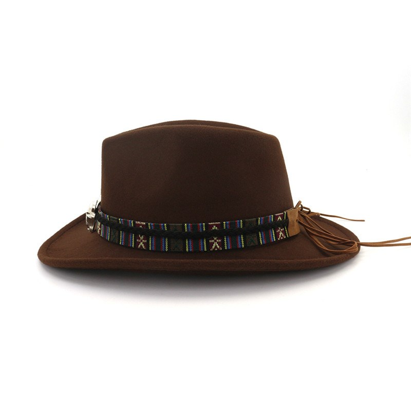 Ericdress Wool Blends Adjustable Cowboy Hat