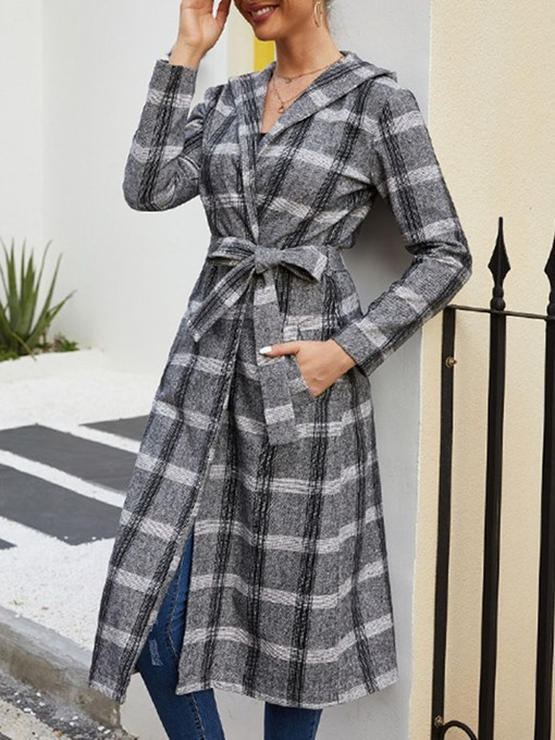 Ericdress Loose Lace-Up Women's Long Overcoat