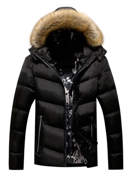 Ericdress Hooded Standard Zipper European Zipper Men's Down Jacket