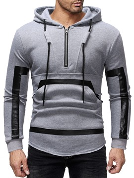 Ericdress Patchwork Color Block Pullover Men's Hoodies