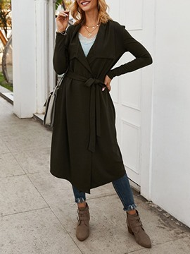 ericdress trench-coat à manches longues