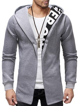 Ericdress Cardigan Patchwork Thick Casual Men's Slim Hoodies