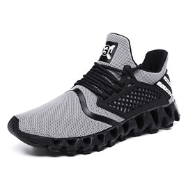 Ericdress Lace-Up Flat With Sports Mesh Men's Sneakers
