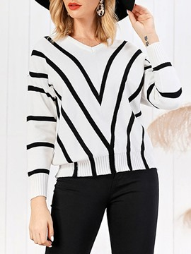 Ericdress Regular Standard Round Neck Sweater