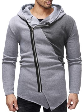 Ericdress Color Block Zipper Cardigan Casual Men's Slim Hoodies