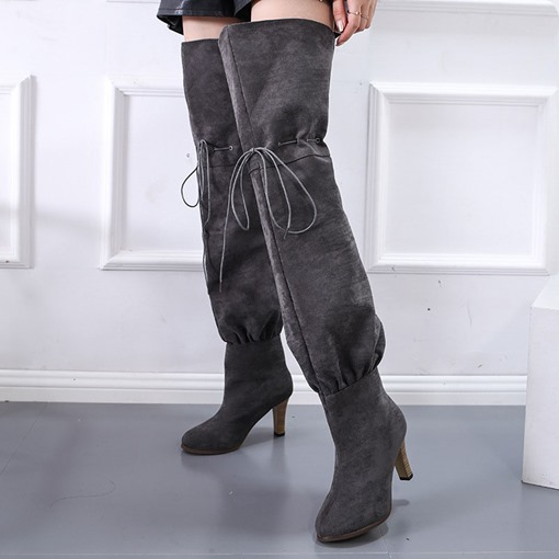 Ericdress Chunky Heel Lace-Up Front Plain Lace-Up Women's Boots