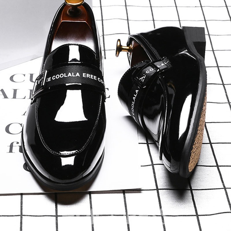 Ericdress Patent Leather Letter Pointed Toe Men's Oxfords