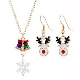 Ericdress Christmas Necklace Oil Drip Jewelry Sets