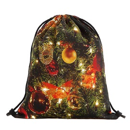 Ericdress Christmas Cartoon Print Polyester Backpacks