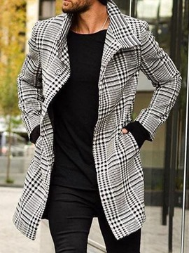 ericdress poche long revers simple manteau une ligne manteau