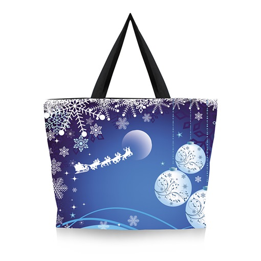 Ericdress Christmas Canvas Cartoon Print Rectangle Tote Bags