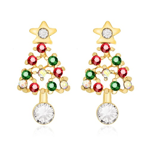 Ericdress Christmas Color Block Alloy Party Earrings