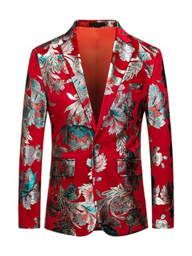 Ericdress One Button Casual Print Men's Leisure Blazers