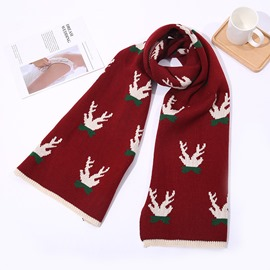 Ericdress Christmas Deer Print Cartoon Scarves